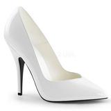 Blanc Verni 13 cm SEDUCE-420V escarpins à bout pointu