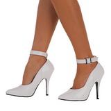Blanc Verni 13 cm SEDUCE-431 Escarpins Chaussures Femme