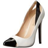 Blanc Verni 13 cm SEXY-22 Chaussures Escarpins Classiques