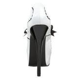 Blanc Verni 14,5 cm Burlesque BORDELLO TEEZE-01 Escarpins Haut Talon