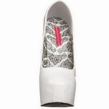 Blanc Verni 14,5 cm Burlesque BORDELLO TEEZE-06 Escarpins Haut Talon