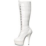 Blanc Verni 15,5 cm DELIGHT-2023 Plateforme Bottes Femmes