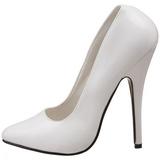 Blanc Verni 15 cm DOMINA-420 talon aiguille très haut et bout pointu
