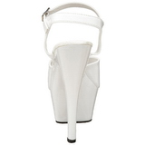 Blanc Verni 15 cm FUNTASMA JULIET-209 Talons Hauts Plateforme