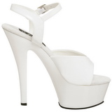 Blanc Verni 15 cm KISS-209 Plateforme Chaussures Talon Haut