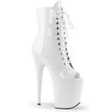 Blanc Verni 20 cm FLAMINGO-1021 bottines plateforme pour femmes