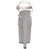 Blanc Verni 20 cm Pleaser XTREME-809 Talons Aiguilles Plateforme