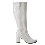 Blanc Verni 7,5 cm Funtasma GOGO-303 Bottes Femmes