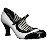 Blanc Verni 7,5 cm JENNA-06 grande taille escarpins femmes