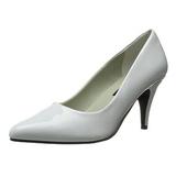 Blanc Verni 7,5 cm PUMP-420 Chaussures Escarpins Classiques
