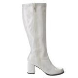 Blanc Verni 8,5 cm Funtasma GOGO-303 Bottes Femmes