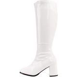 Blanc Verni 8,5 cm GOGO-300 Bottes Femmes pour Hommes