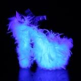 Blanc plumes de marabout 20 cm FLAMINGO-808F chaussure de pole dance