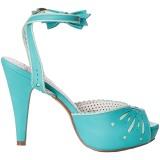 Bleu 11,5 cm Pinup BETTIE-01 sandales à talons aiguilles