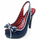 Bleu 11,5 cm retro vintage BETTIE-05 Chaussures pour femmes a talon