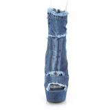 Bleu 15 cm DELIGHT-1030 basket à talon aiguille en toile