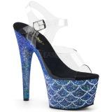 Bleu 18 cm ADORE-708MSLG etincelle sandales avec plateforme