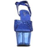 Bleu 18 cm ADORE-710GT etincelle talons avec plateforme