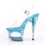 Bleu 18 cm MOON-708GFT etincelle sandales avec plateforme