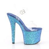Bleu 18 cm RADIANT-708LG chaussures à talons etincelle