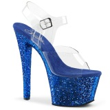 Bleu 18 cm SKY-308LG etincelle talons avec plateforme