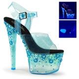 Bleu 18 cm SKY-308UVMG Neon Plateforme Sandales Hauts Talons