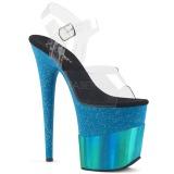 Bleu 20 cm FLAMINGO-808-2HGM etincelle sandales avec plateforme