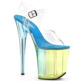 Bleu 20 cm FLAMINGO-808MCT sandales de pole dance