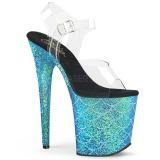 Bleu 20 cm FLAMINGO-808MSLG etincelle sandales avec plateforme