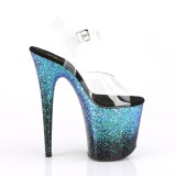 Bleu 20 cm FLAMINGO-808SS etincelle sandales avec plateforme