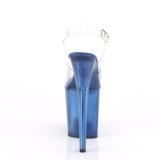 Bleu 20 cm FLAMINGO-808TB Plateforme Sandales Acrylique Hauts Talons
