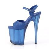 Bleu 20 cm FLAMINGO-809T Acrylique talons avec plateforme