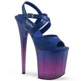 Bleu 20 cm FLAMINGO-822T chaussures plateforme et talons