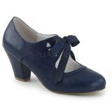 Bleu 6,5 cm WIGGLE-32 Pinup escarpins femmes à talons épais