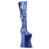 Bleu Etinceler 34 cm VIVACIOUS-3016 Bottes pour Drag Queen