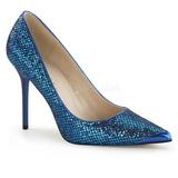 Bleu Etincelle 10 cm CLASSIQUE-20 Escarpins Talon Aiguille Femmes