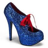 Bleu Etincelle 14,5 cm TEEZE-10G Platform Escarpins Chaussures