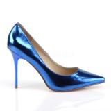 Bleu Métallique 10 cm CLASSIQUE-20 Escarpins Talon Aiguille Femmes