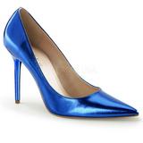 Bleu Métallique 10 cm CLASSIQUE-20 grande taille chaussures stilettos