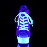 Bleu Neon 15 cm DELIGHT-600SK-01 basket à talon aiguille en toile