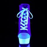 Bleu Neon 15 cm DELIGHT-600SK-02 basket à talon aiguille en toile