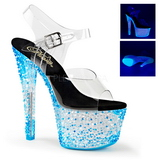 Bleu Neon 18 cm Pleaser CRYSTALIZE-308PS Plateforme Haut Talon