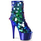 Bleu Paillettes 18 cm ADORE-1031SSQ pleaser bottines à plateforme