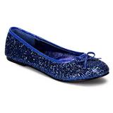 Bleu STAR-16G etincelle chaussures ballerines femmes plates