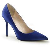 Bleu Satin 10 cm CLASSIQUE-20 escarpins à talon aiguille bout pointu
