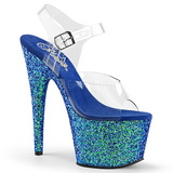 Bleu Scintiller 17 cm ADORE-708LG Plateforme Sandales Talons Hauts