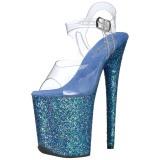 Bleu Scintiller 20 cm FLAMINGO-808LG Plateforme Sandales Talons Hauts