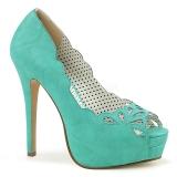 Bleu Similicuir 13,5 cm BELLA-30 chaussures escarpins bout ouvert