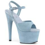 Bleu Similicuir 18 cm ADORE-709FS sandales à talons aiguilles