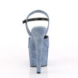 Bleu Similicuir 18 cm ADORE-709WR sandales à talons aiguilles